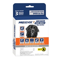 ProSense 7 Advanced Flea and Tick Solutions for Dogs Over 66 lbs