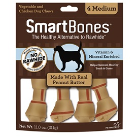 Peanut Butter Classic Bone Chews - Medium