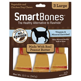 Peanut Butter Classic Bone Chews - Large