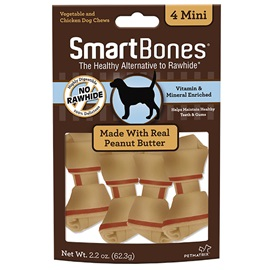 Peanut Butter Classic Bone Chews - Mini