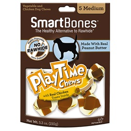 PlayTime Chews Peanut Butter - Medium