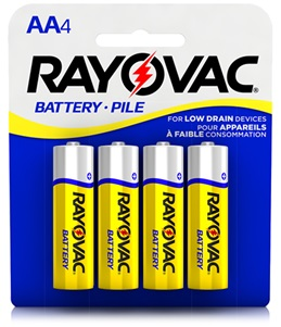 Rayovac® zinc carbon aa 4 pack batteries