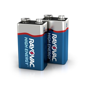A1604-2TK 9V 2-Pack HIGH ENERGY™ Alkaline Batteries