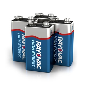 A1604-4TK 9V 4-Pack HIGH ENERGY™ Alkaline Batteries