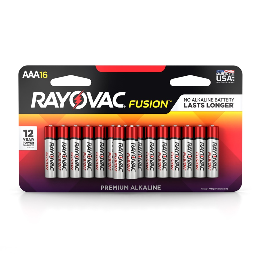 824-16LTFUSK AAA 16-Pack FUSION ™ Premium Batteries