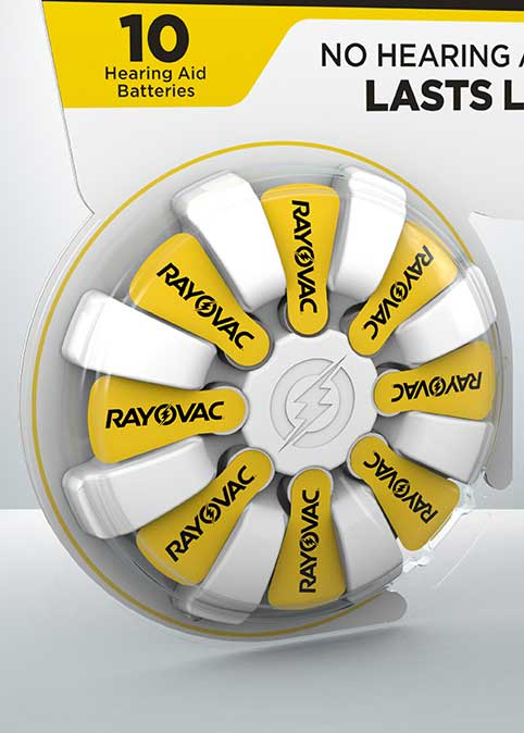 rayovac hearing aid battery size 10 16 pack