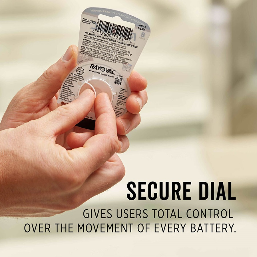 secure dial gives users total control over the movement of every battery