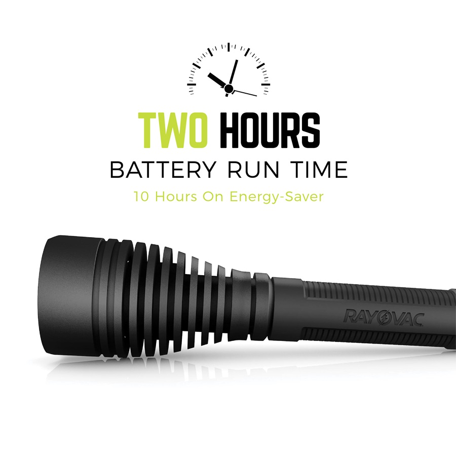 2 Hours Battery Run Time, 10 Hours on Energy-Saver | RWP123A-B