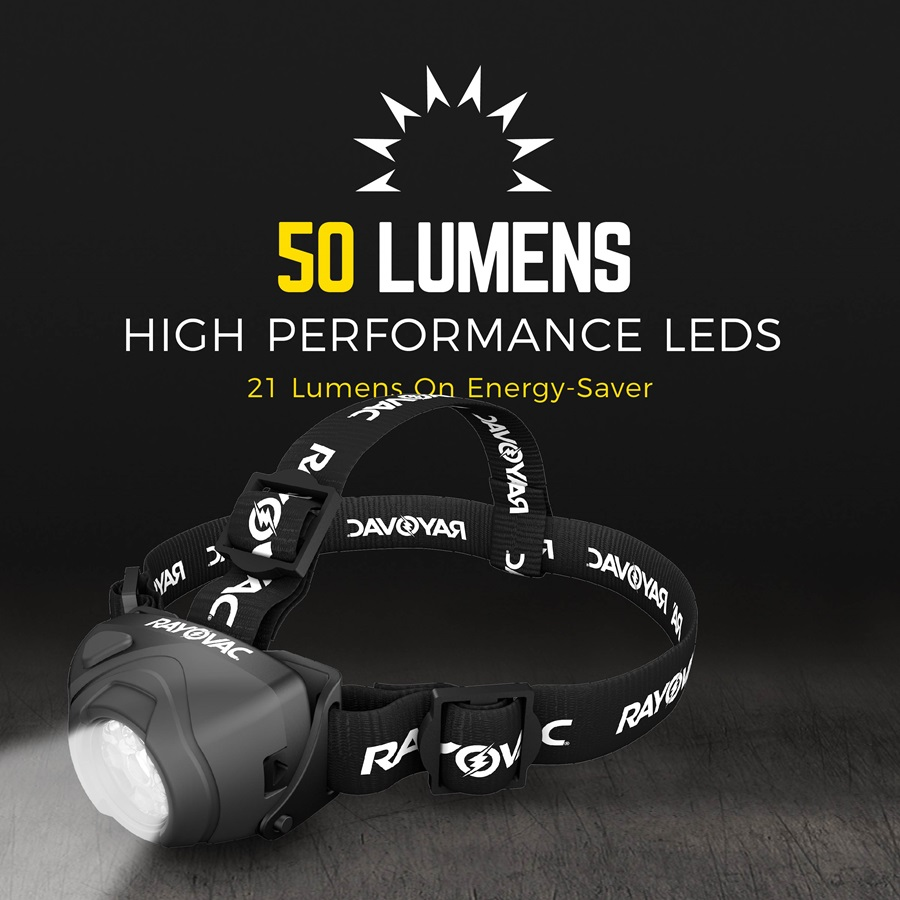 50 Lumens and high performance LEDs DIYHL3AAA-BTA