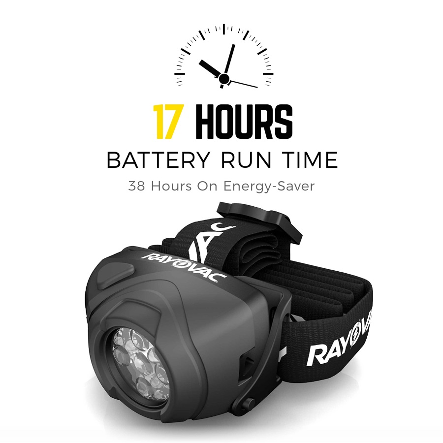 17 hours battery run time DIYHL3AAA-BTA