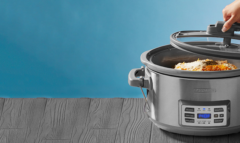 pop up banner with slow cooker