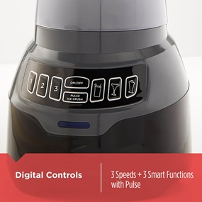 Digital Controls. 3 Speeds plus 3 smart functions with pulse