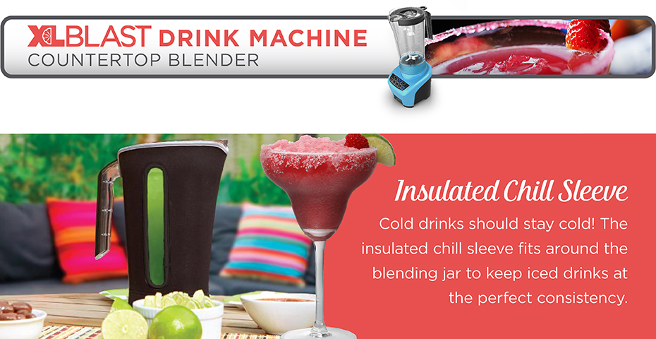 Black+Decker® xlblast counter party blender bl4000t teal