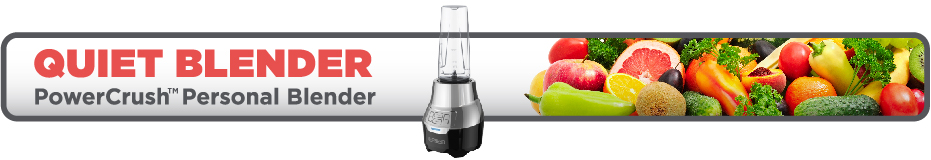 Quiet Blender. PowerCrush Personal Blender