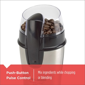 Push Button Pulse Control - Mix ingredients while chopping or blending