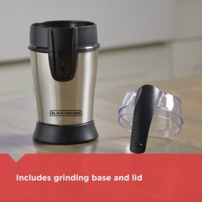 Includes grinding base and lid