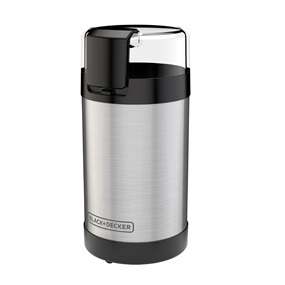 BLACK+DECKER™ Coffee Grinder, One Touch Push-Button Control, Stainless Steel, CBG110S