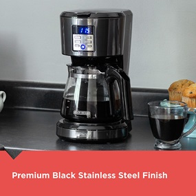 Premium Black Stainless Steel Finish