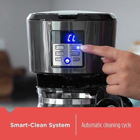 Smart Clean System. Automatic cleaning cycle.