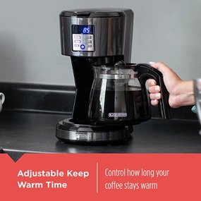 Adjustable keep warm time to control how long your coffee stays warm.