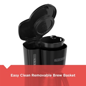 Easy clean removable brew basket