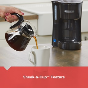 Sneak-a-cup™ Feature