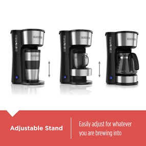 CM0750S 4-in-1 5-Cup Station Coffeemaker, Stainless Steel