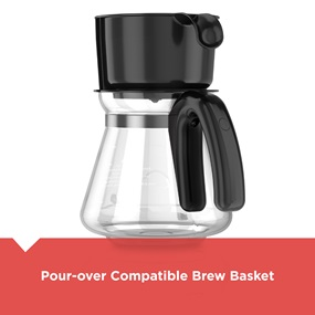 Pour over compatable brew basket