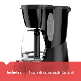 black and decker 12 cup programmable coffee maker includes carafe and filter basket CM0940BD