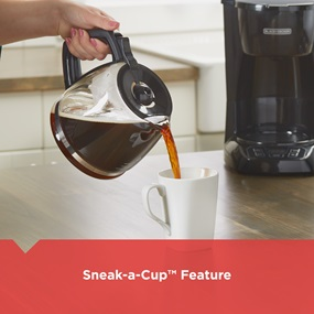 sneak-a-cup feature