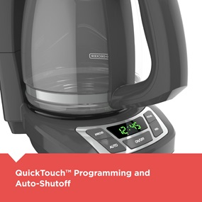 QuickTouch™ Programming and Auto-Shutoff