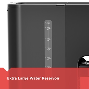 Extra large water reservoir