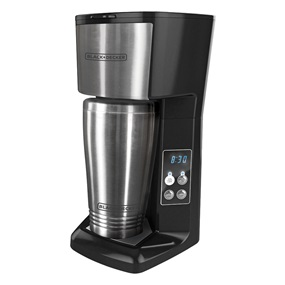CM625B Programmable Single Serve Coffeemaker with Travel Mug, Black