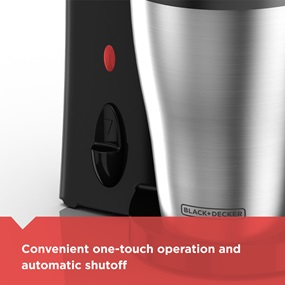 Convenient one-touch operation and automatic shutoff | DCM18S