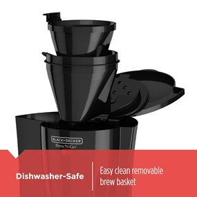 Dishwasher Safe, easy to remove brew basket | DCM18S