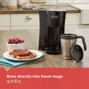 brew directly into travel mug | DCM18S