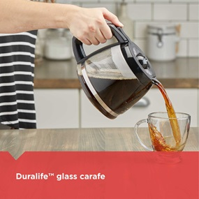 duralife glass carafe dcm600b