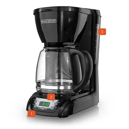 black and decker 10 serving programmable coffeemaker dlx1050