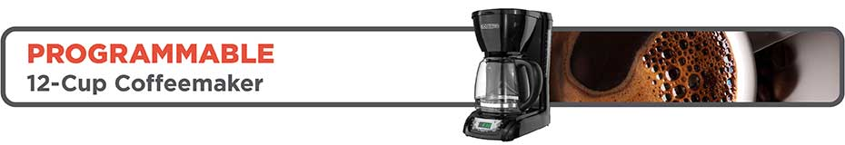 black+decker 10 serving programmable coffeemaker dlx1050