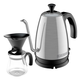 Gooseneck Kettle Pour Over Coffee Kit, Stainless Steel, KE3000S-KIT