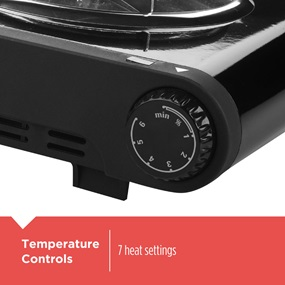Temperature Controls with 7 heat settings