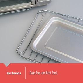 includes bake pan and broil rack cto6335