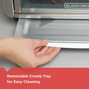removable crumb tray for easy cleaning cto6335