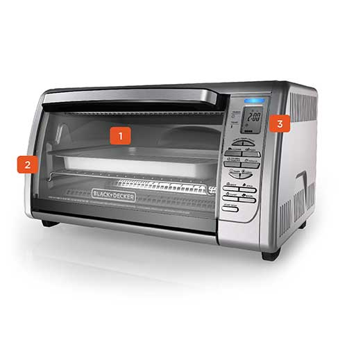 Countertop convection toaster oven cto6335s black decker - Cool touch exterior convection toaster oven ...