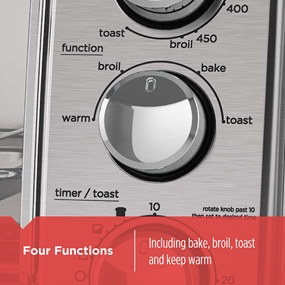 Four Functions Including bake, broil, toast and keep warm