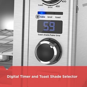 digital timer and toast shade selector tod3300ss
