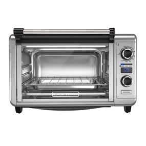 black+decker 6 slice digital convection countertop oven tod3300ss