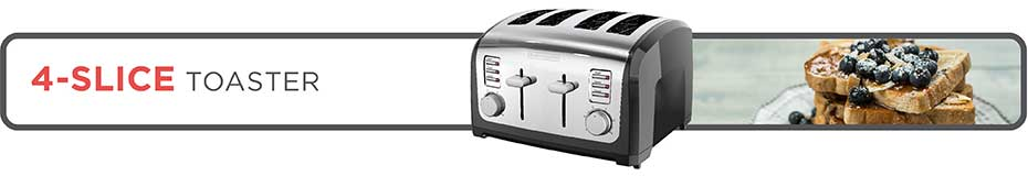 black and decker T4030 4 slice toaster banner image