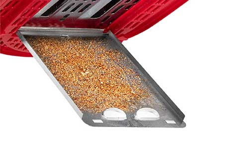 Drop down crumb tray