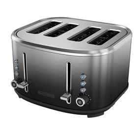 BLACK+DECKER™ 4-Slice Extra-Wide Slot Toaster, Ombré Finish | TR4310FBD